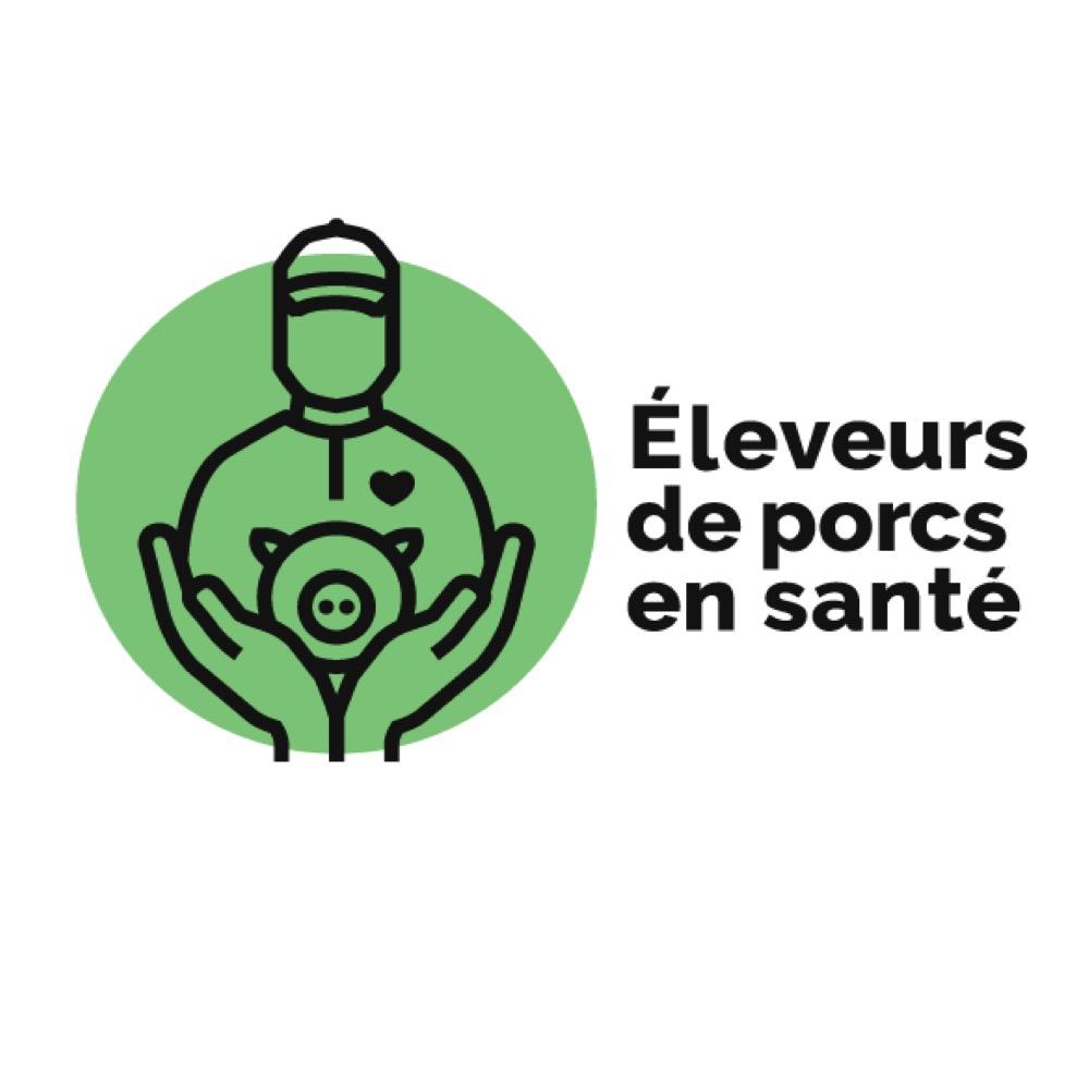 L'étude Éleveurs de porcs en santé   Logo de l'étude